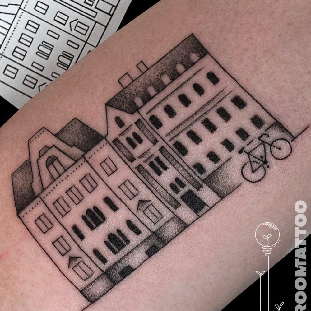 minimalista tetoválás